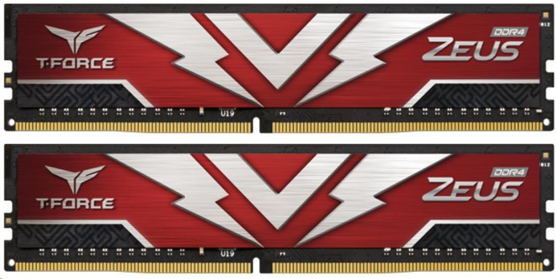 DIMM DDR4 64GB 3200MHz, CL16, (KIT 2x32GB), T-FORCE ZEUS Gaming Memory (Red)