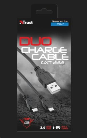 TRUST Nabíjecí stanice GXT 222 Duo Charge & Play Cable for PS4