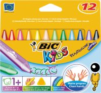 Voskovky BIC plastidecor triangel mini 12ks/bal