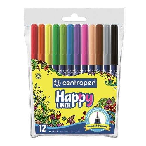 Liner 0,3mm 2521 Happy mix 12 farieb Centropen