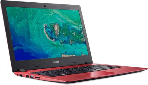 "ACER NTB Aspire 1 (A114-32-C8FY)  - Celeron N4100@1.1GHz,14"" FHD,4GB,64eMMC,HD graphics,čt.pk.,2čl,W10HS,red"