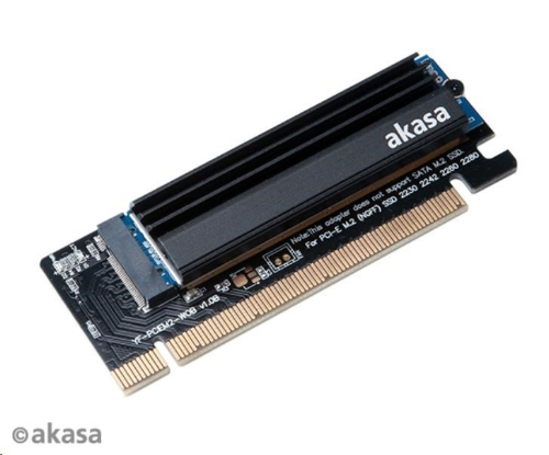 AKASA adaptér M.2 SSD to PCIe adapter card with heatsink cooler