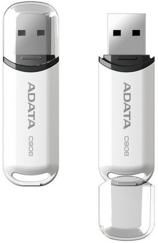 ADATA Flash Disk 16GB C906, USB 2.0 Classic, bílá