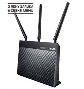ASUS DSL-AC68U Dual-band Wireless AC1900 VDSL/ADSL Modem Router, 4x gigabit RJ45, 1x USB3.0