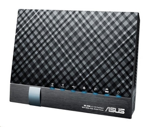 ASUS DSL-AC56U Dual-band Wireless AC1200 VDSL/ADSL Modem Router, 4x gigabit RJ45, 2x USB2.0