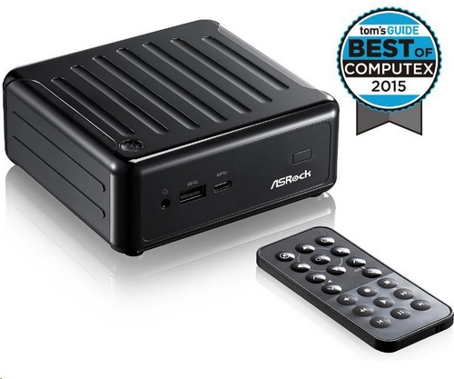 ASRock Mini PC BEEBOX Intel® Quad-Core Processor J3160-NUC (Barebone), remote controller, black