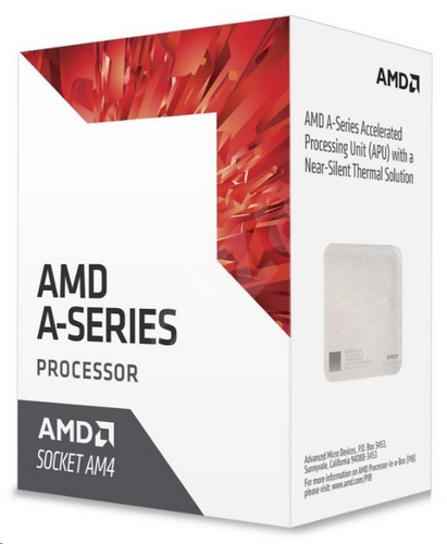 CPU AMD A10 9700E (Bristol Ridge), 4-core, 3.5GHz, 2MB cache, 35W, socket AM4, VGA Radeon R7, BOX
