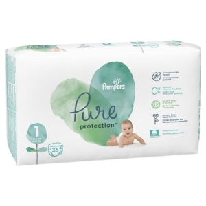 Plienky PAMPERS Pure Protect S1 (35KS/FOL) 2-5kg