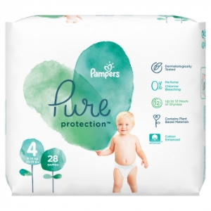 Plienky PAMPERS Pure Protect S4 (28KS/FOL) 9-14kg